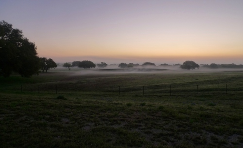 Sunrise over the LBJ Ranch
