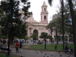 The cathedral in the main square inSalta