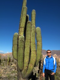 Chas and cactus at the ruins in Tilcara