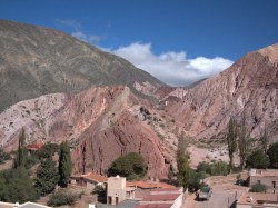 The colorful hills around Purmamarca