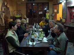 Group dinner in Purmamarca