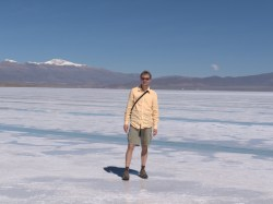 Me on the salt flats