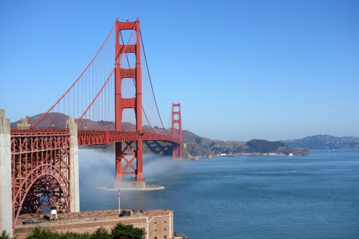 Golden Gate from San Francisco Side of the Bridge